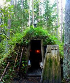 """One *very* small footprint - Accommodations at Kolarbyn, Sweden, a former charcoal making forest that now operates as the """"world's most primitive hotel."""""""