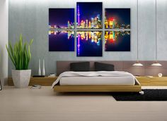 Shanghai Skyline Canvas Art Multi Panel Print Modern Art Wall Deco Fine Art Photography Large Wall Art for Home and Office Wall Decoration by ZellartCo TAGS large wall art skyline canvas art shanghai skyline city skyline canvas art wall art home decor extra large wall art wall decor cityscape painting housewarming gift canvas art gift wall art for home skyline wall art