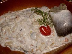 Rybí salát / Fish salad Fish Salad, Fish And Seafood, Dairy, Cheese, German, Foods, Deutsch, Food Food, Food Items