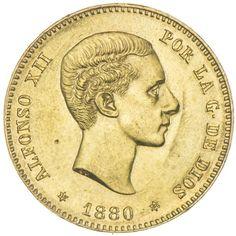 25 Pesetas 1880*1880 Gold