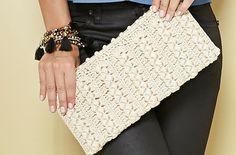 Crochet clutch with diagrams Crochet Clutch Bags, Free Crochet Bag, Crochet Purse Patterns, Modern Crochet Patterns, Crochet Handbags, Crochet Purses, Clutch Purse, Crochet Bags, Chevrons Au Crochet