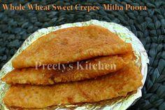 Whole Wheat Sweet Crepes / Mitha Poora