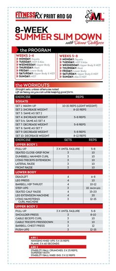 10 Week Workout Plan By Guadalupe | Workout Plans | Pinterest | 10
