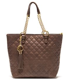 Mud quilted leather tote by Roberta M. on secretsales.com