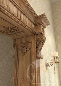 Дверной портал из дуба