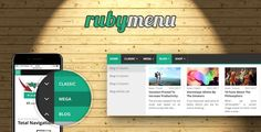 Ruby Mega Menu . Ruby Menu is a responsive, elegant and flexible CSS Mega Menu which is not based on any CSS framework. It has several mega menu types, for example: Classic Mega, Blog Mega and Shop