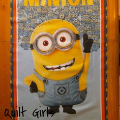 Despicable Me, One in a Minion Quilt Fabric Panel to sew