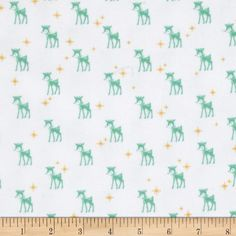 Riley Blake Cozy Christmas Flannel Reindeer White from @fabricdotcom  Designed…