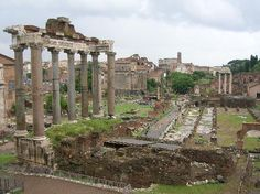 Rome, Italy: Roman Forum from the Capitoline Hill