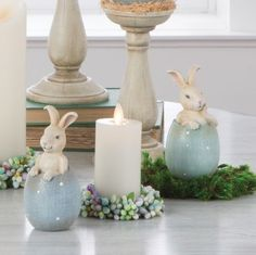 Bunnies-in-Eggs-set-of-2-Easter-Spring-Decoration-NEW-rzea-3710216-RAZ-Imports