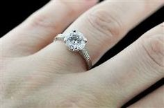 Side Stone Engagement Ring | Side Stone Engagement Rings | MiaDonna