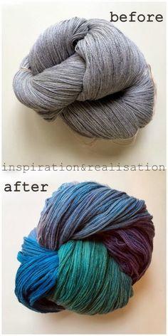 DIY dyeing wool yarn with food coloring