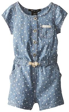 Toddler Girl Carter's Polka-Dot Chambray Romper, Blue Other Toddler Girl Romper, Carters Baby Girl, Toddler Girl Dresses, Little Girl Dresses, Toddler Outfits, Kids Outfits, Toddler Girls, Fashion Kids, Little Girl Fashion