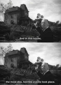 "Hitchcock's teaser for ""Psycho"""