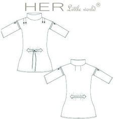 HER Little world, Patron de couture pour vêtement enfant, robe Attachante