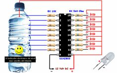 Electrical Engineering Books: Awesome water Level Indicator with ULN 2803 Electronics Projects, Electronic Circuit Projects, Electronics Components, Electronics Gadgets, Organize Electronics, Electrical Engineering Books, Electrical Projects, Electronic Engineering, Chemical Engineering