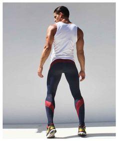 Men Compression Pants High Stretch Tight Pants Long Pants Low Waist Men'S Joggers Pants Designed Sweatpants red M Running Pants, Sport Pants, Mens Compression Pants, Mens Tights, Skinny Guys, Mens Sweatpants, Moda Fitness, Swagg, Fashion Pants