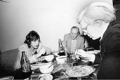 Mick Jagger, William S. Burroughs e Andy Warhol