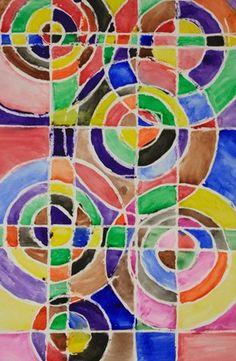 Artsonia Art Museum :: Middle school-color shape-repitition-balance