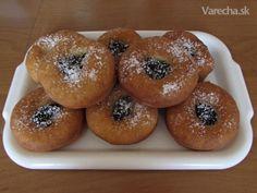 Šišky s džemom No Bake Cake, Bagel, Doughnuts, Bread, Food And Drink, Baking, Hampers, Bread Making, Patisserie