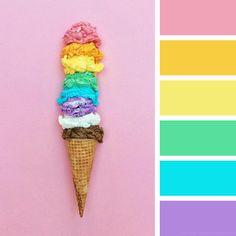 the color palettes