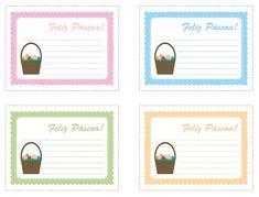 Cartões de páscoa para imprimir