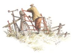 'George Counting Cows'Original sold Giclée prints to order