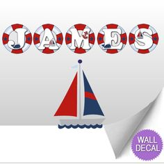 Wall Letters Name Decals Ocean Nautical :