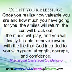 Motivational Words of Wisdom: Count Your Blessings