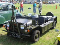Mini Moke, Lowride style, Military Paint, Beefy Tires. -- Car Pictures