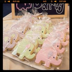 Elephant cookies by createdbyemily for baby first birthday. #cookies #elephants #sweet #partyfavours #cute https://www.facebook.com/pages/Created-by-Emily/204807809538796