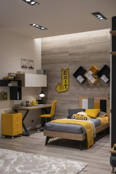 Boys Room Design, Kids Bedroom Designs, Room Design Bedroom, Boys Bedroom Decor, Bed Design, Home Bedroom, Modern Bedroom, Study Room Design, Teenage Room Decor