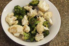Roasted Broccoli & cauliflower...Yum!