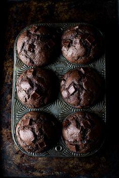 Dark Chocolate Banana Rye Muffins   The Flourishing Foodie   Bloglovin'