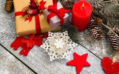 Download wallpapers Merry Christmas, gifts, boxes, New Year, festive decoration, cones, Xmas, Christmas