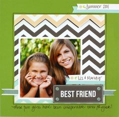 Best Friends Fluffy & Fido Scrapbook Layout Page Idea from Creative Memories #scrapbooking    www.creativememor...