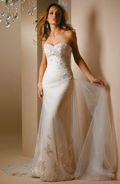 A detailed Australian wedding dress.