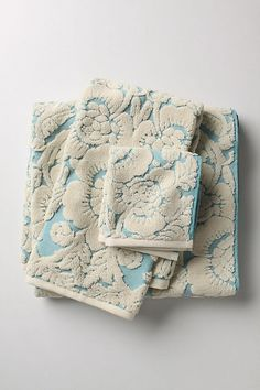 Perpetual Blooms Towel in Turquoise  - Anthropologie - don't know why but i think these are really pretty!