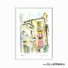 Bari * Italy * Poster * Architectural Drawing * Mediterran * Fine Art to…
