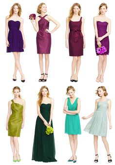 This website gives you several other websites to check out mismatched bridesmaids dresses.