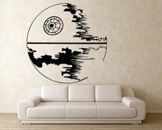 Star wars Death Star Vinyl Wall Decal  (WD-0303) on Etsy, $38.82 CAD
