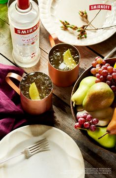 This classic cocktail was invented by Smirnoff Vodka in 1941. The crisp ginger and tangy lime make it an easy but tasty drink. Best for happy hour, house parties, backyards, and birthdays. Just break out the copper mugs and you'll have a weekend on your hands.   The Original Moscow Mule 1.5 OZ  SMIRNOFF Vodka 3 OZ GINGER BEER GARNISH WITH LIME