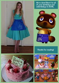Animal Crossing birthday cake by Rosanna aka Nerdy Nummies D I
