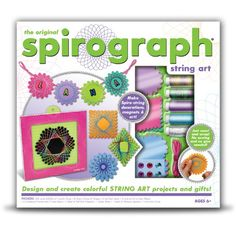 With the Spirograph String Art set you can design and create colorful projects and gifts inspired by iconic Spirograph patterns....