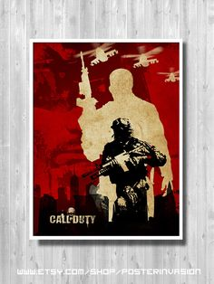 Call Of Duty poster Gamer room poster for fan by PosterInvasion