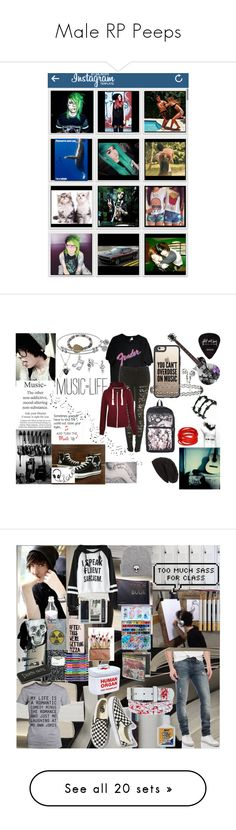 """""""Male RP Peeps"""" by emo-music-lover ❤ liked on Polyvore featuring art, Revolver, Polaroid, English Laundry, Electric Picks, Casetify, Hot Topic, Bling Jewelry, Converse and Miss Selfridge"""