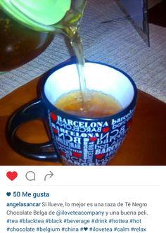 """Ángela nos propone desde Instagram """"Té Negro Chocolate Belga"""" y una buena peli para los días de lluvia #MomentoTeaLover"""