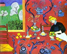 Henri Matisse. Harmony in Red. 1908. Oil on canvas. The Hermitage, St. Petersburg, Russia.