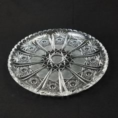 Your place to buy and sell all things handmade Cut Glass, Clear Glass, Serving Plates, Cake Plates, Colored Glass, Wedding Gifts, Buy And Sell, Antiques, Handmade