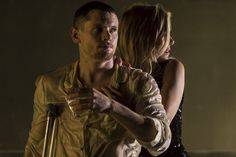 Jack O'Connell (Brick) and Sienna Miller (Maggie) in Cat On A Hot Tin Roof at the Apollo Theatre
